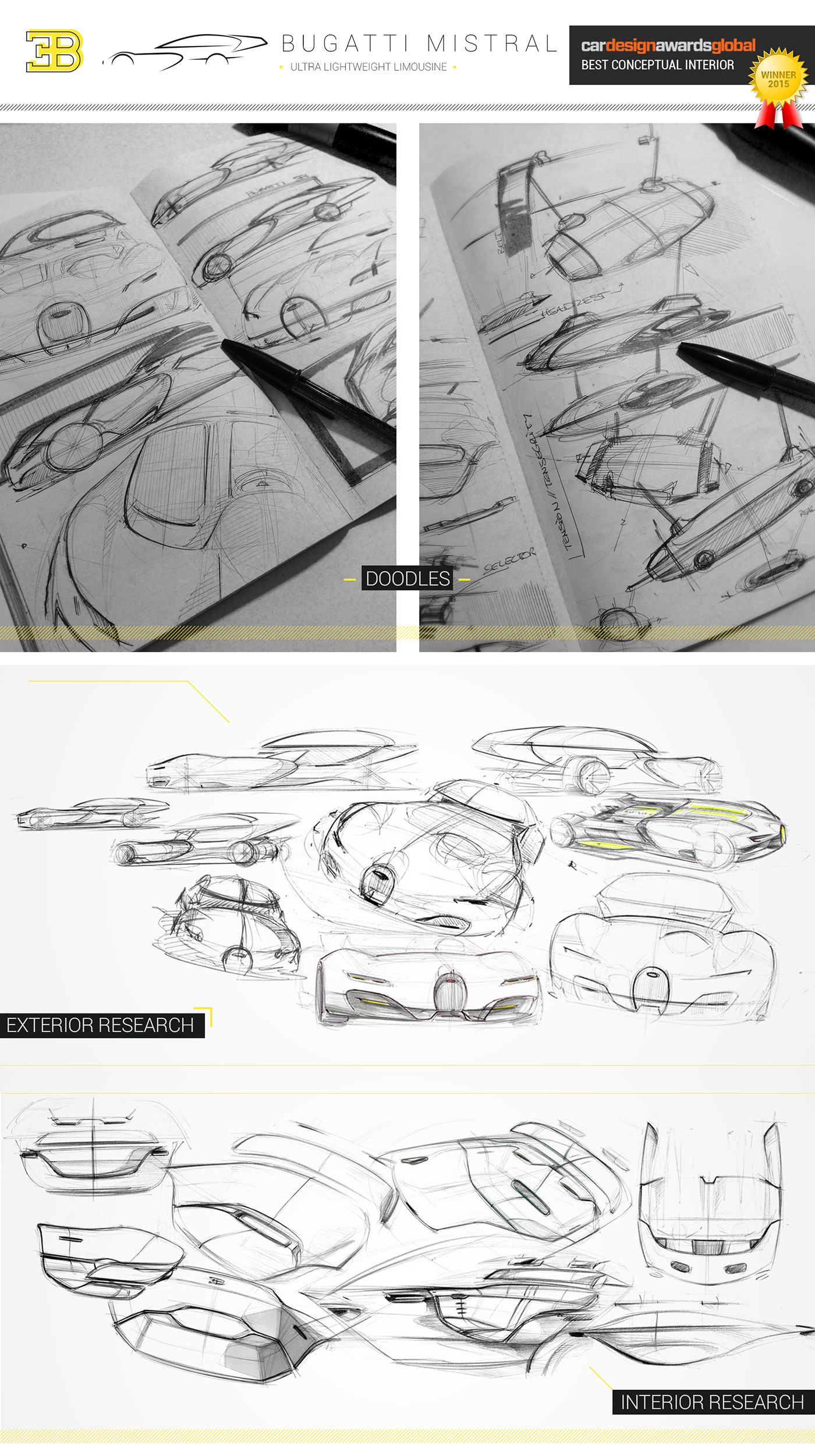 Corridor Design: Bugatti Thesis Project // Car Design Awards Global 2015 On