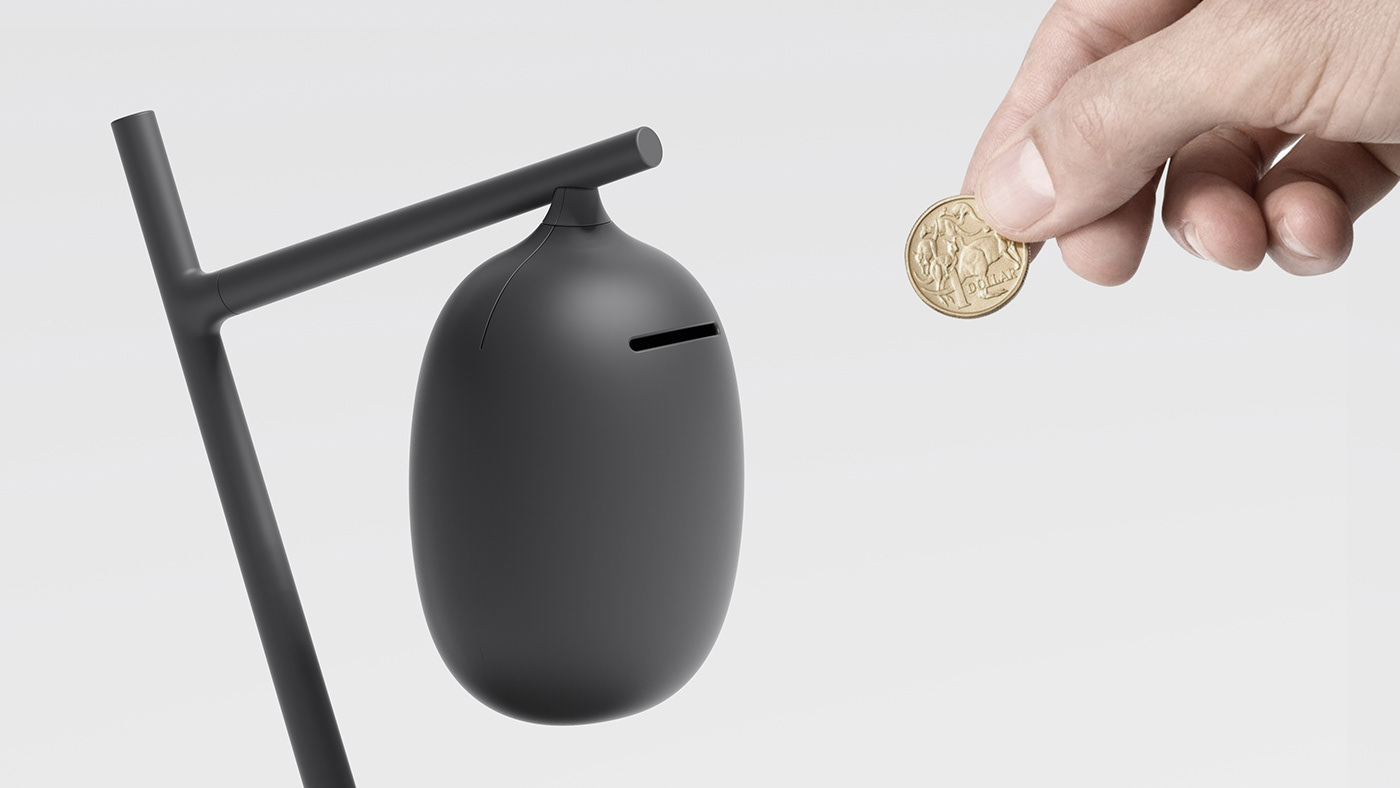 design Fruit piggybank product productdesign coin metaphor prop Tree