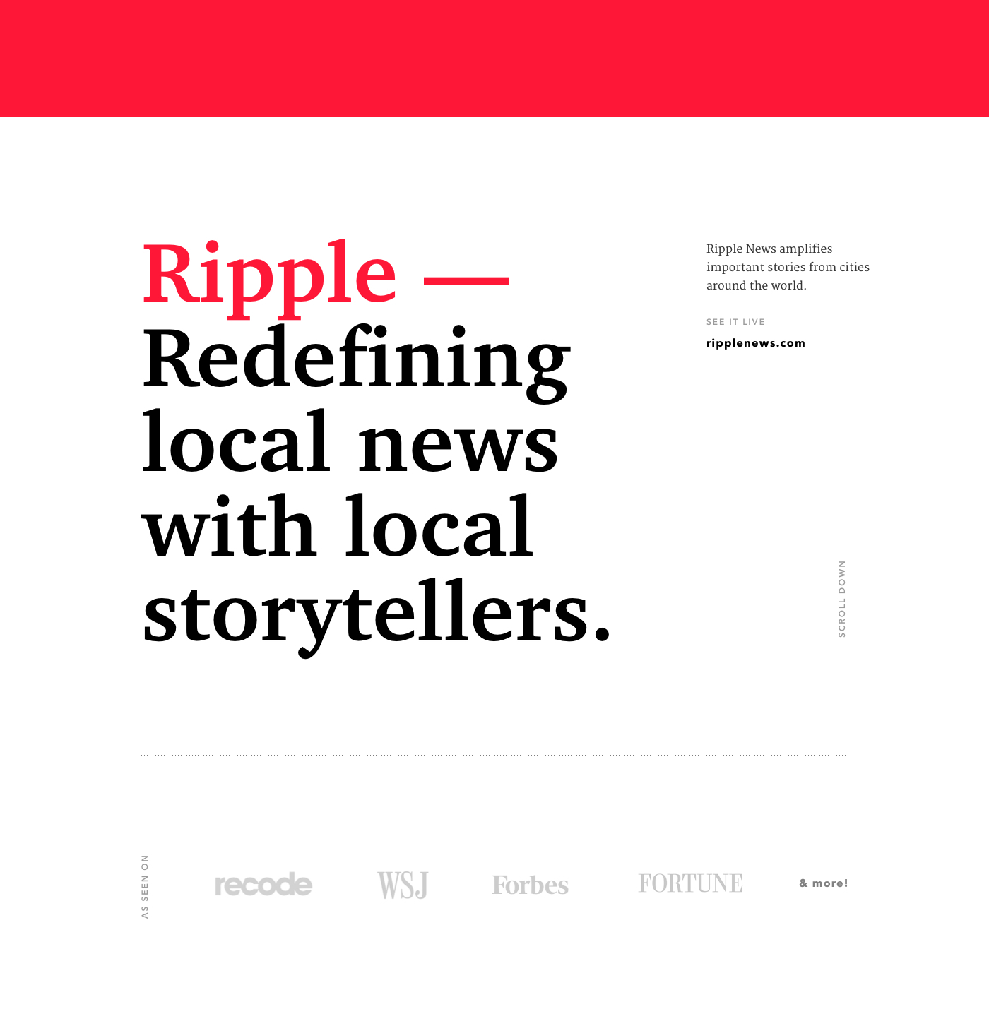 Interaction Design: Ripple News
