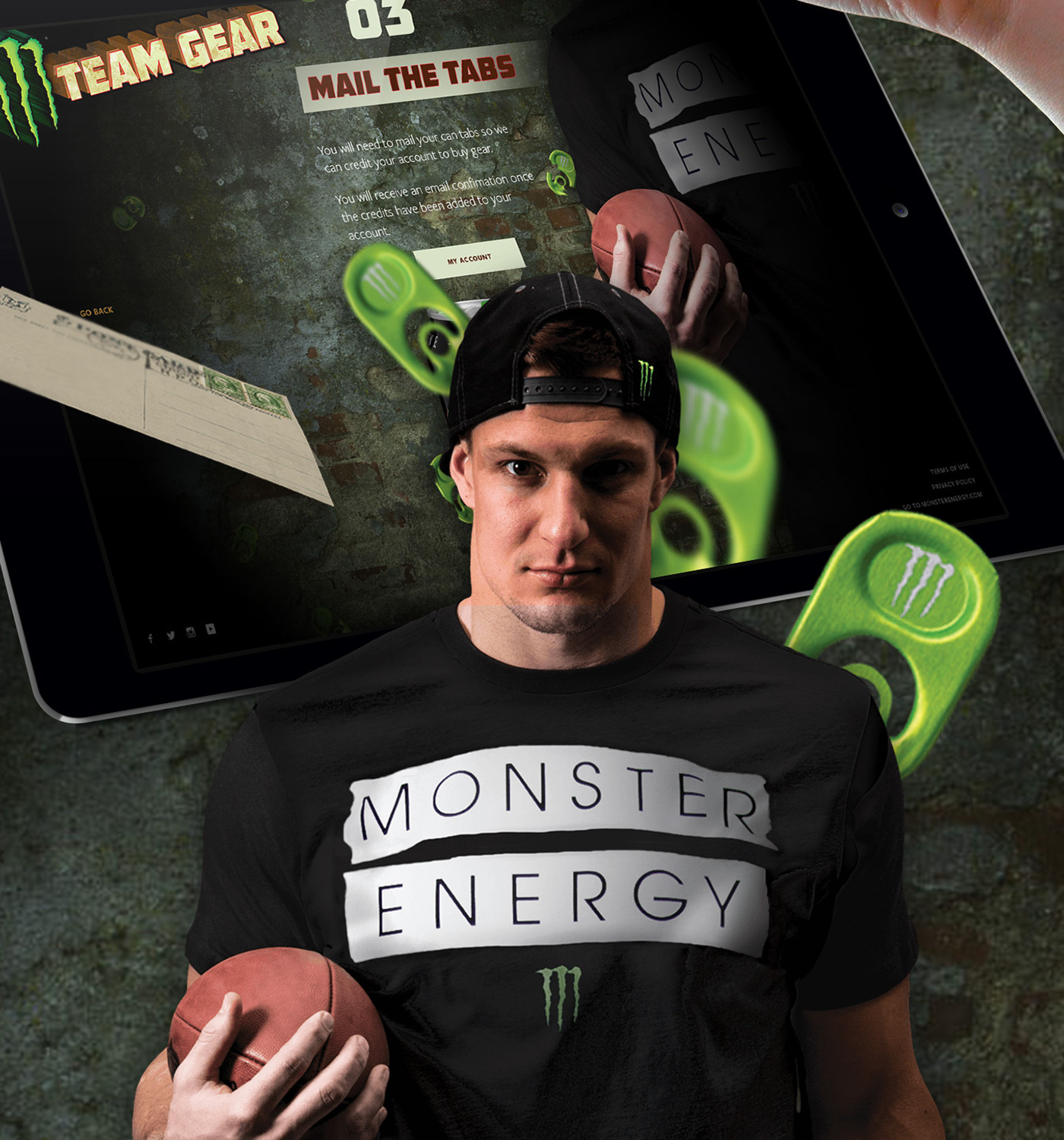 Monster energy prizes for tabs