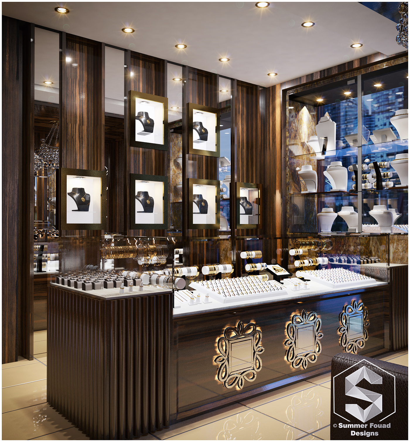 Interior Decor Stores: Jewelry Store Interior Design On Behance