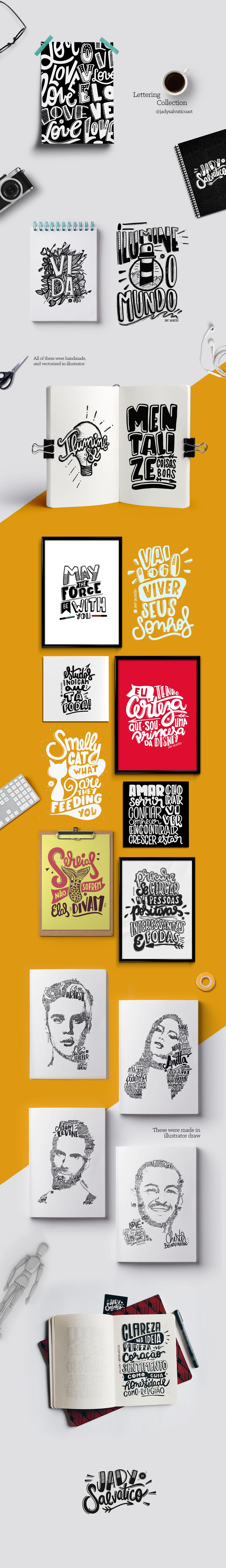 lettering handmade type instagram letter draw Illustrator ILLUSTRATION  portrait typography