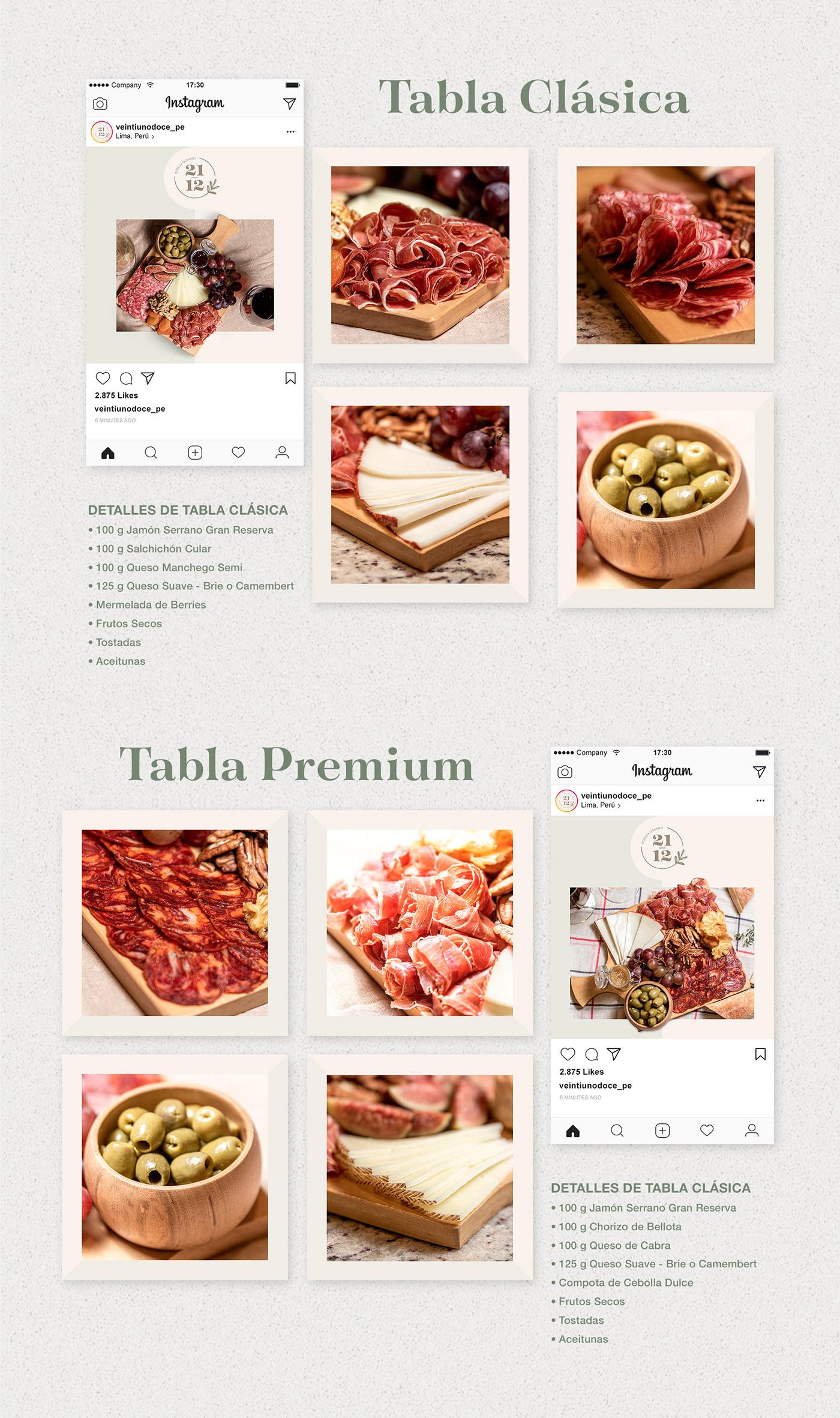 bodega gourmet facebook gourmet instagram jamones quesos redes sociales social media tablas tablas de quesos