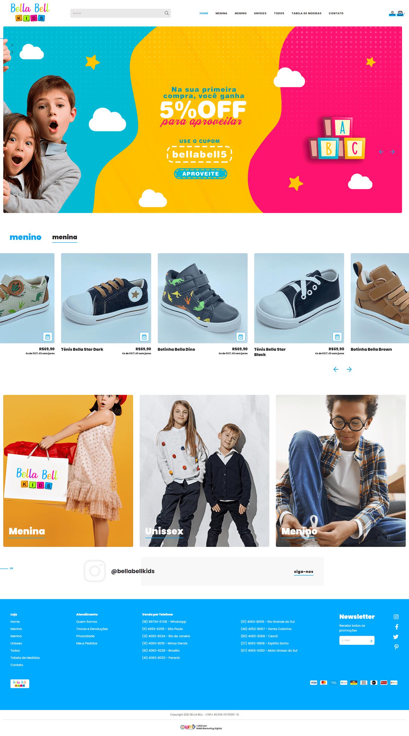infantil loja Loja Virtual marketing