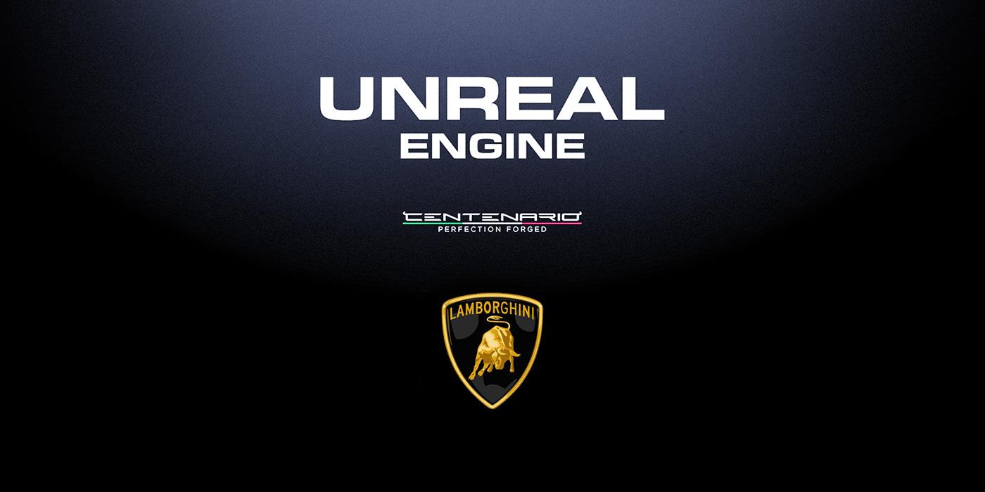 3D Centenario Lambo lamborghini RAYTracking UE4 automoyive car sport