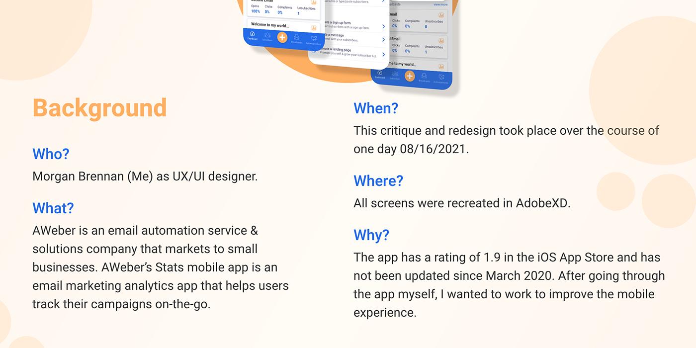 Adobe XD critique UI/UX user experience ux critique ux redesign ux/ui