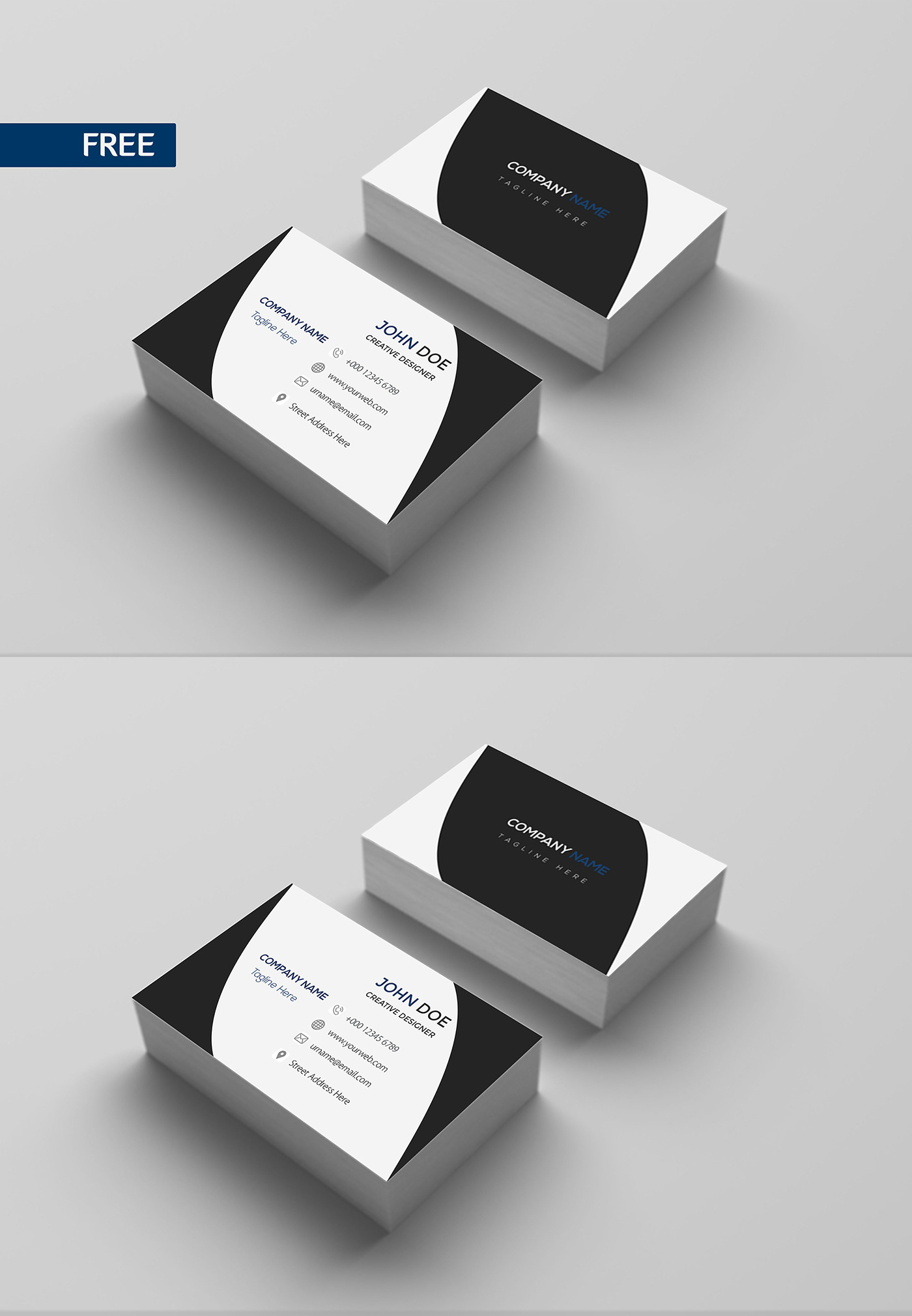 Free Print Design Business Card Template on Behance For Template For Cards To Print Free