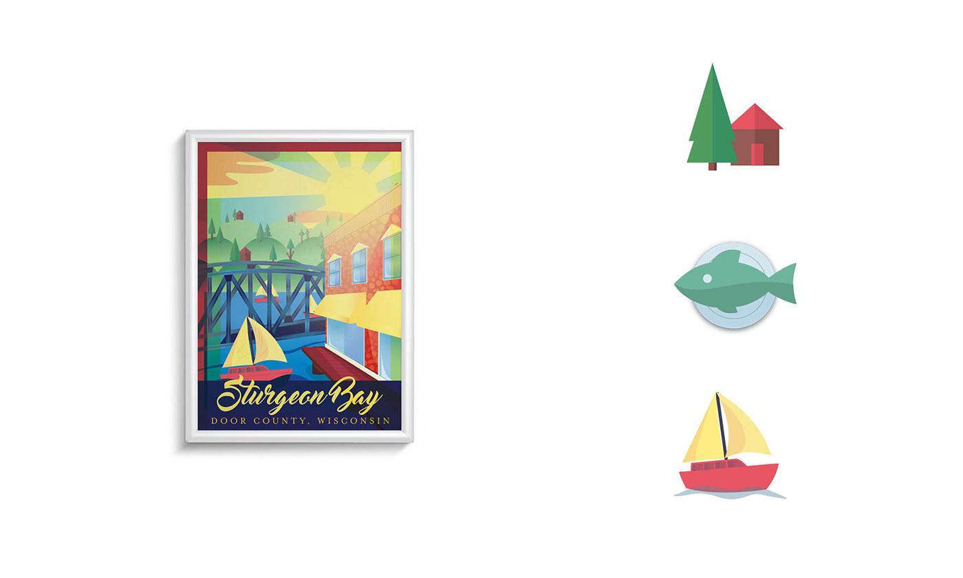 lamp post Poster Design brochure
