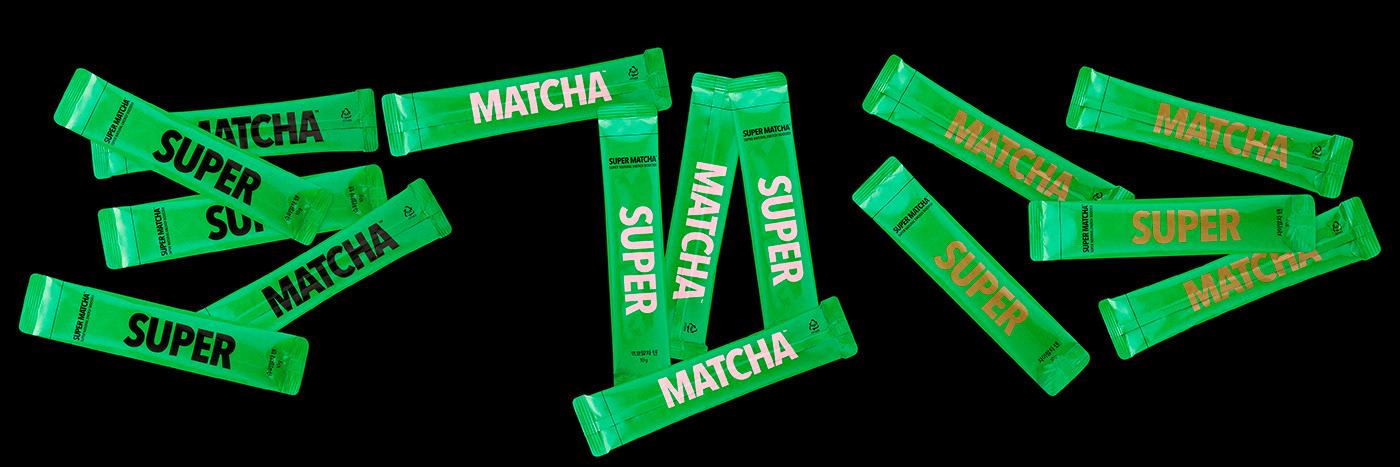 Branding design Food  green tea packaging design super food