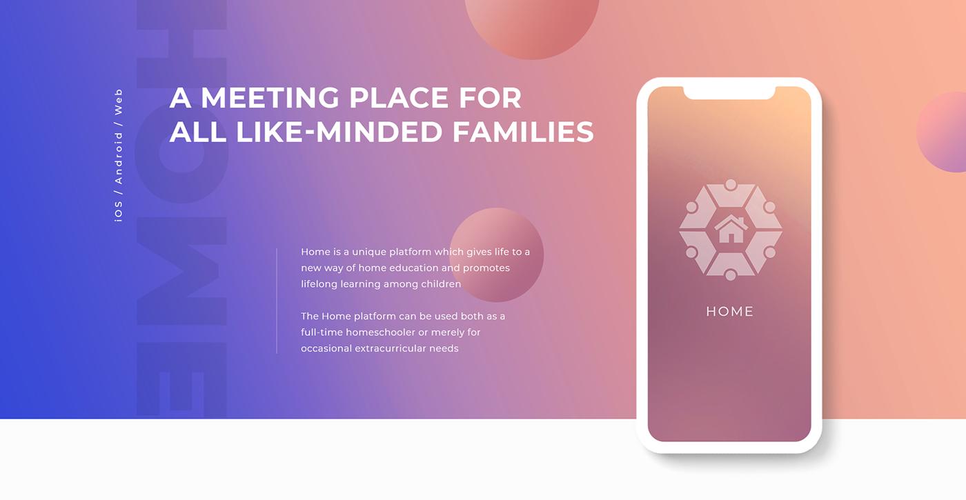 homeschooling platform tutors lifelong learning Education design web development  Mobile app