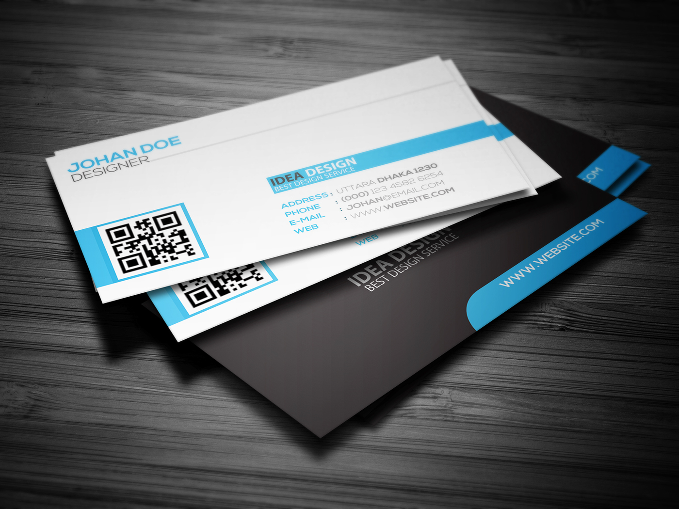 simple and clean business card design on behance