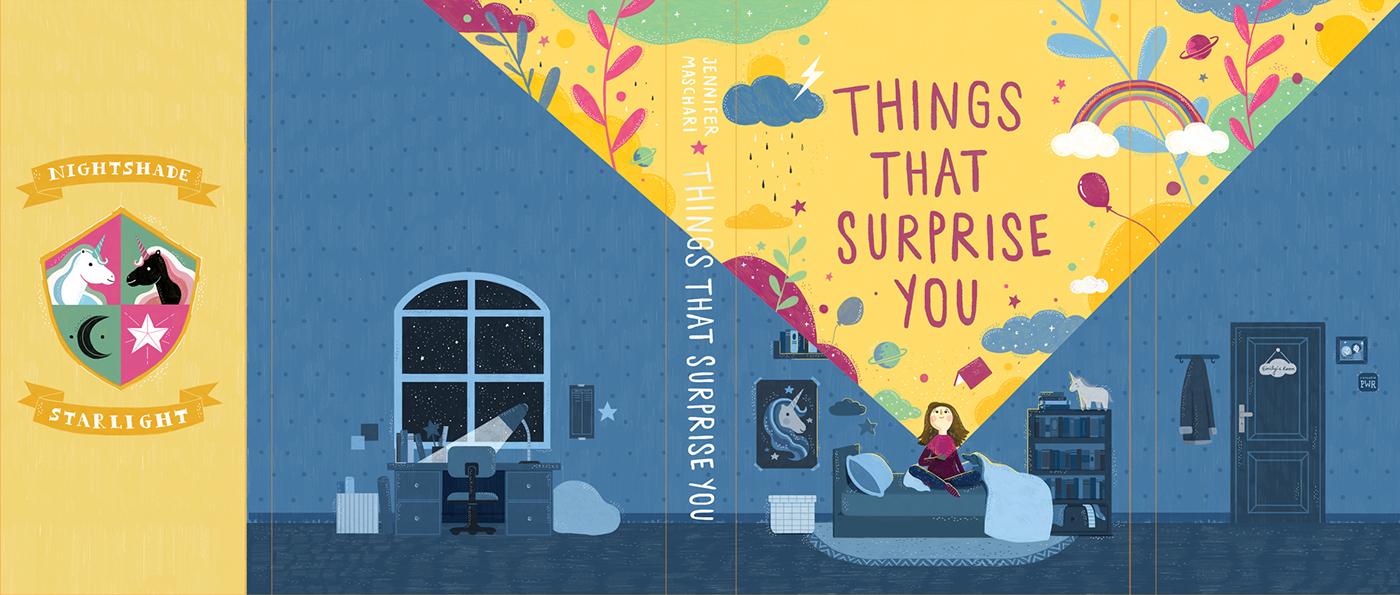 childrenbookcover childrenstorybook whimsical illustration Novel book cover book jacket design children illustration children picture book
