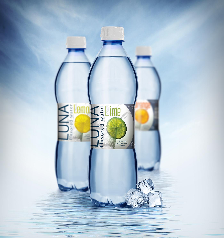 Luna flavored water logo, branding, package design on AIGA ...