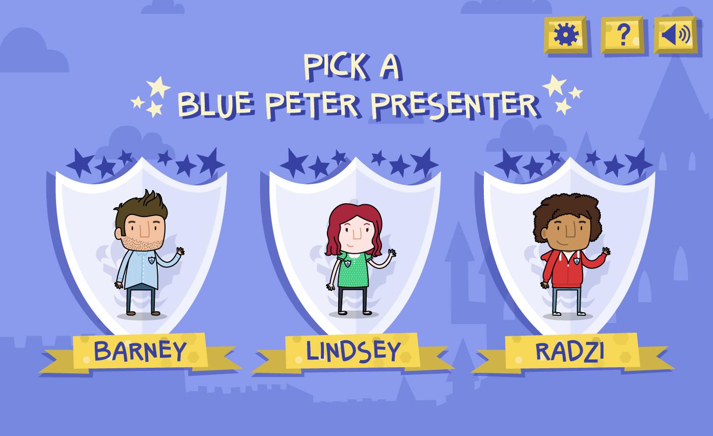 Blue Peter BBC cbbc children tortoise Mascot animal grid damsel Presenter