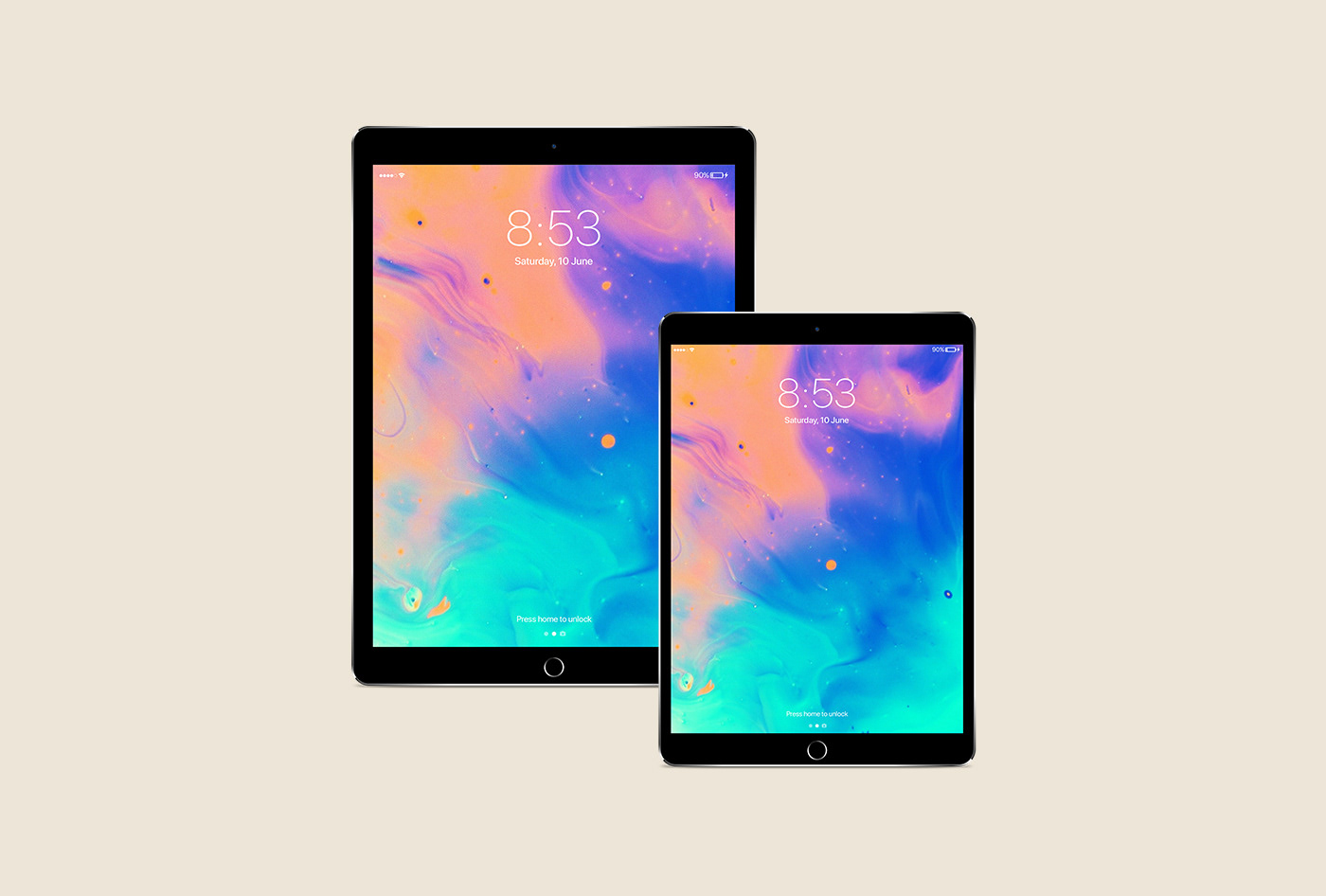 iPad pro Mockup apple device ipad pro iPhone x ios