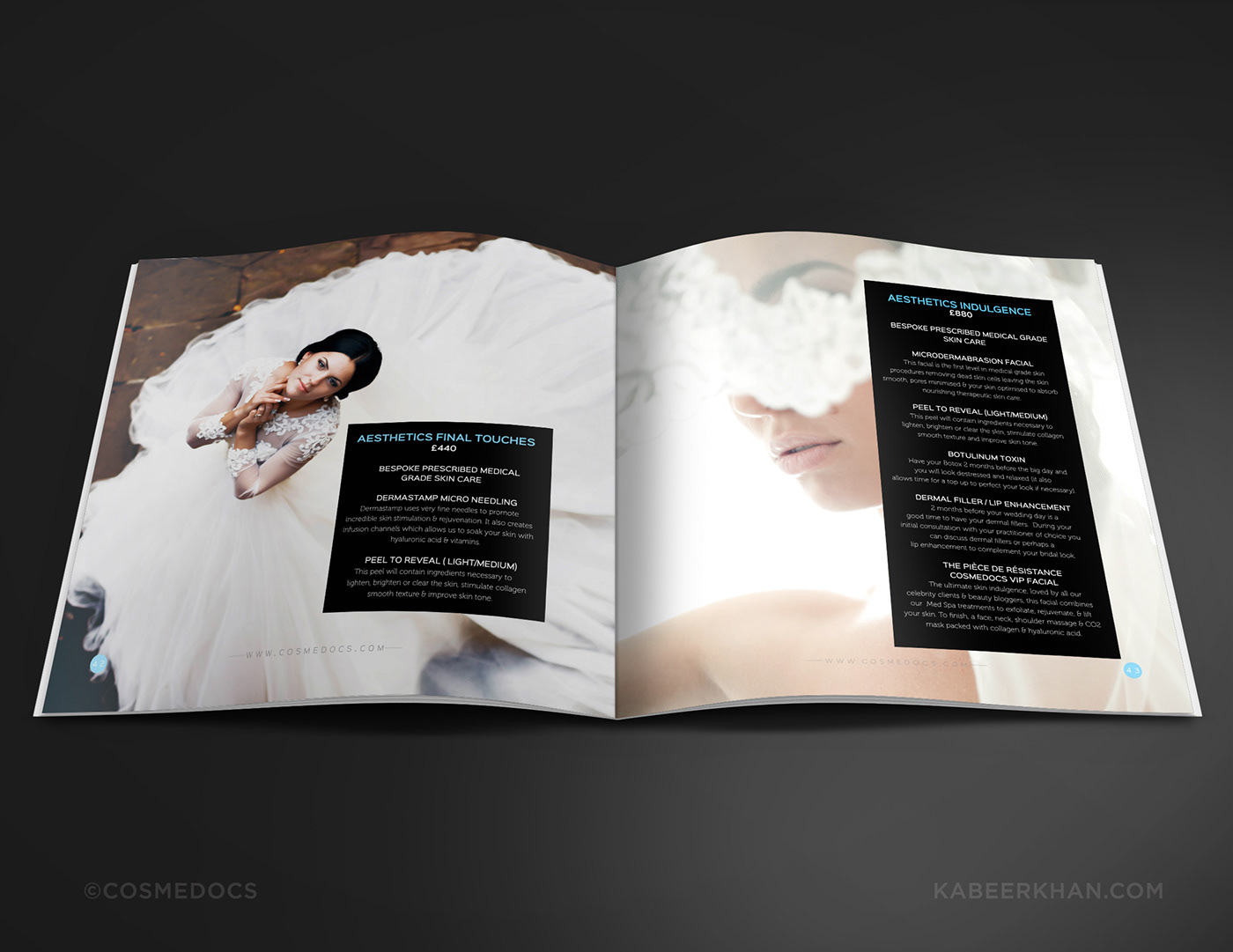 cosmetic treatments for brides brochure