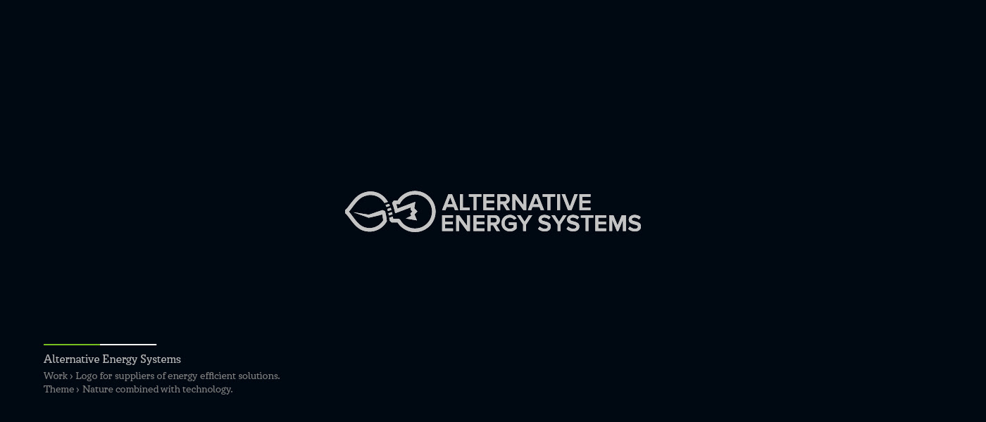 Alternative Energy Systems - logo combined nature and technology
