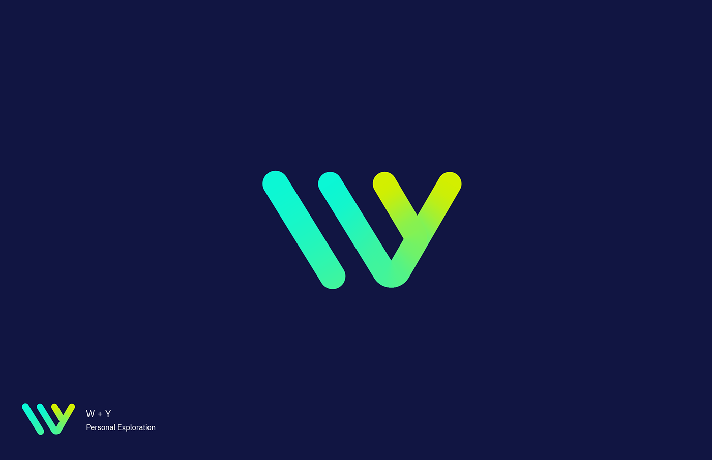 Personal exploration for monogram W + Y