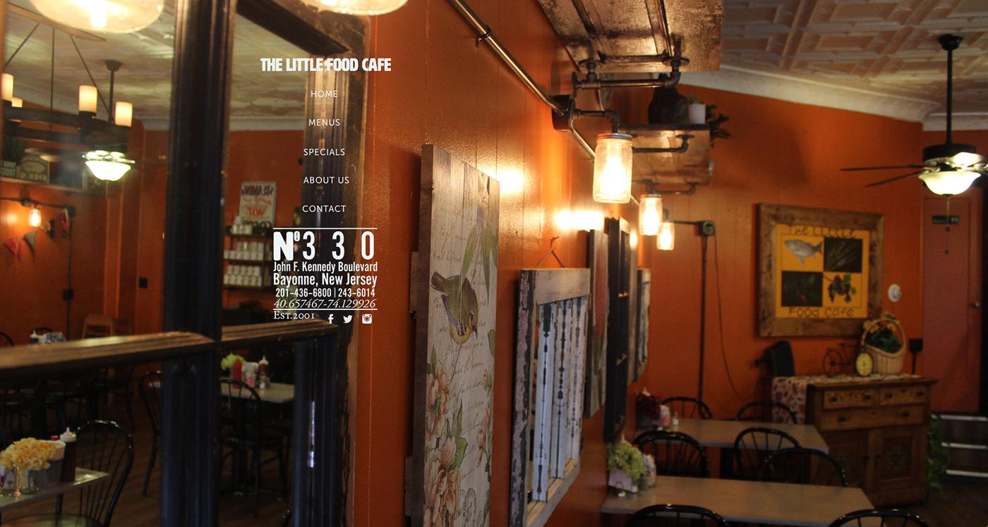 The Little Food Cafe Website On Behance