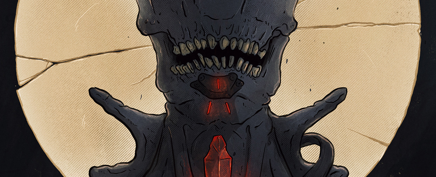 ILLUSTRATION  sketch Nightlife glow halftone athousandskulls anime manga dark evil