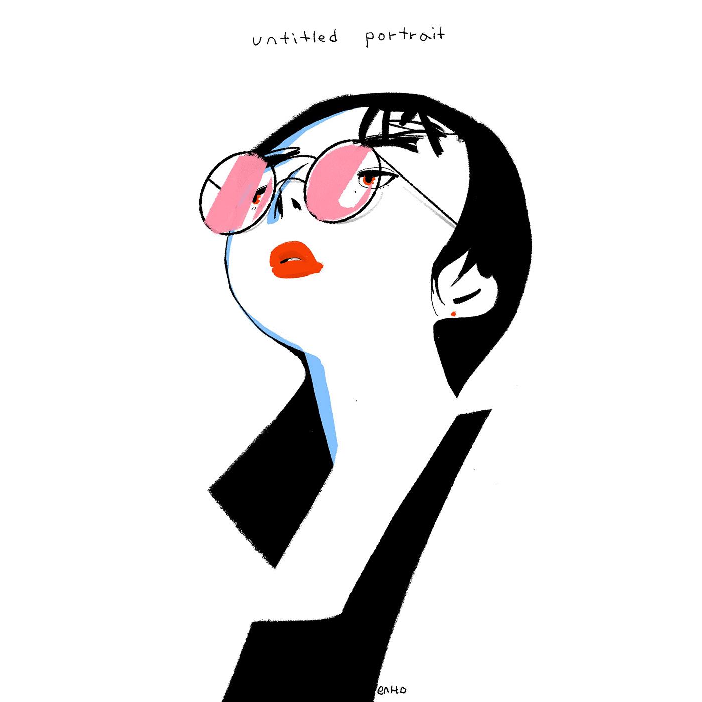 Drawing  glasses ILLUSTRATION  portrait