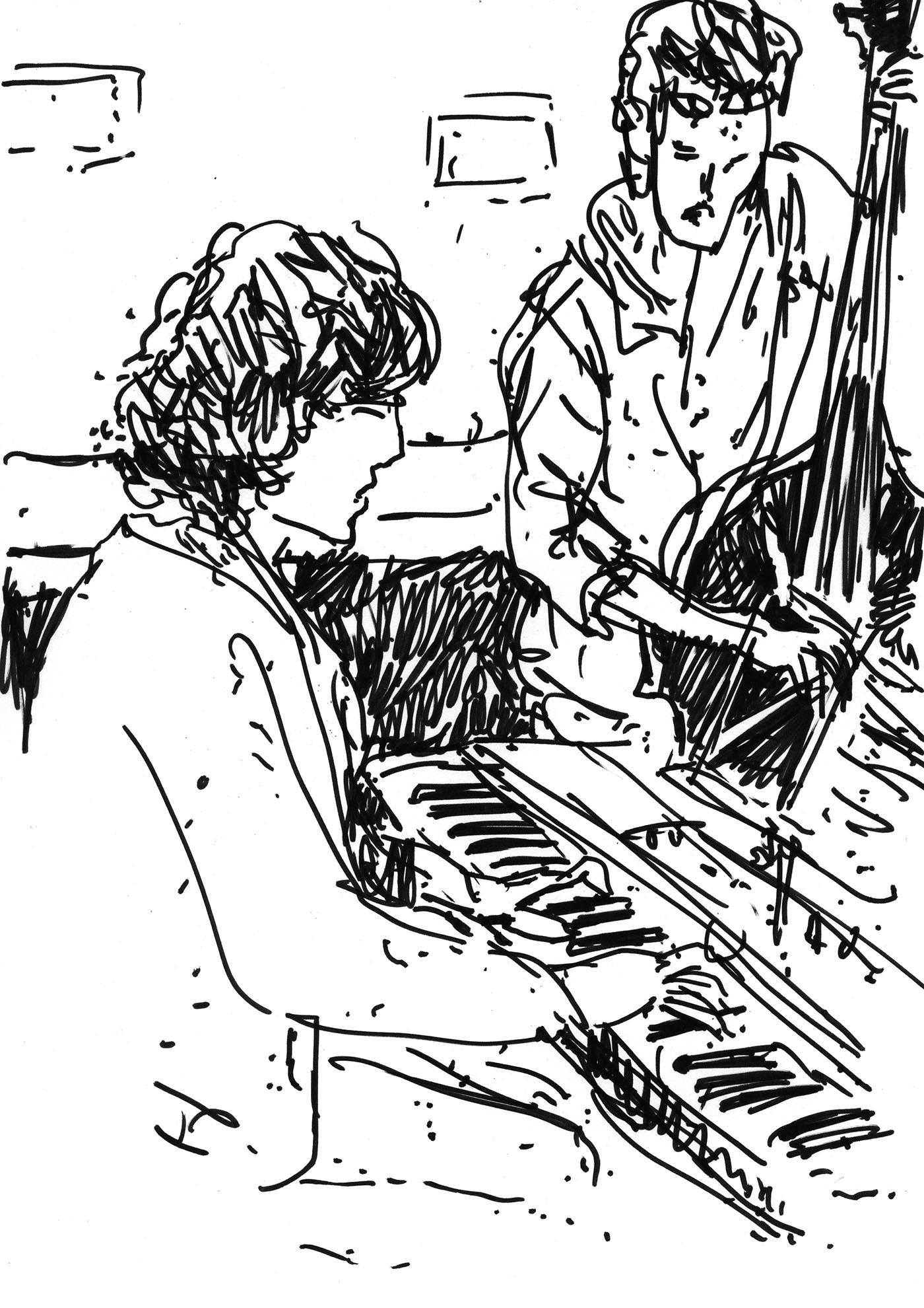 concert Drawing  drawings jazz live drawing music sketch sketchbook urban sketchers