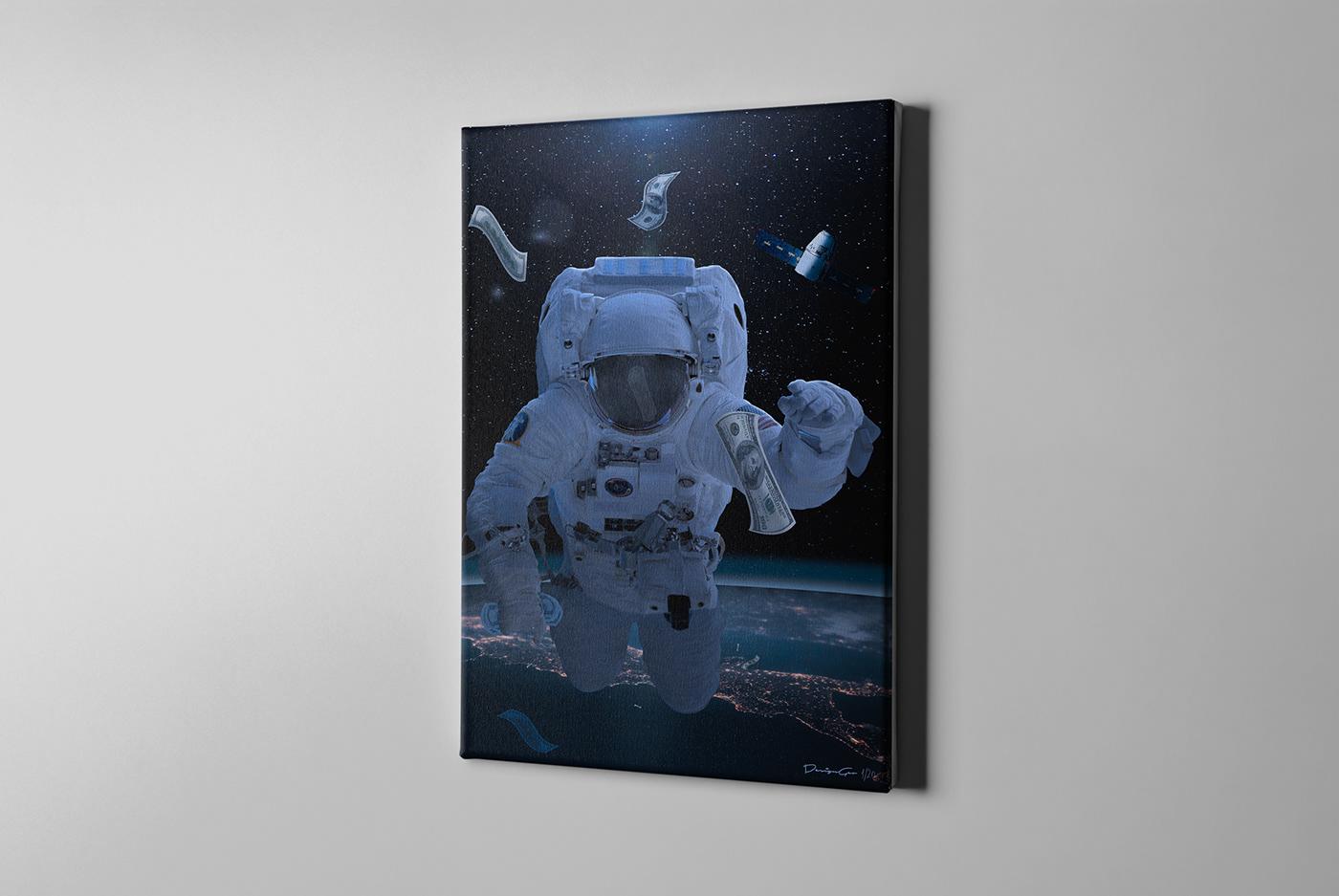 Gravity hundred photo manipulation canvas print. DesignGeo