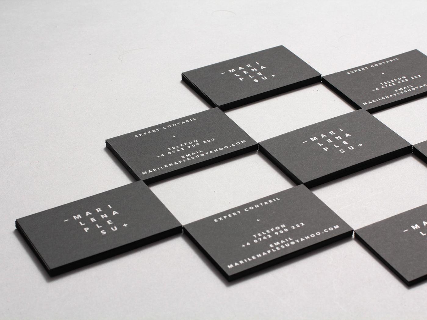 wordmark Business Cards accountant brand identity