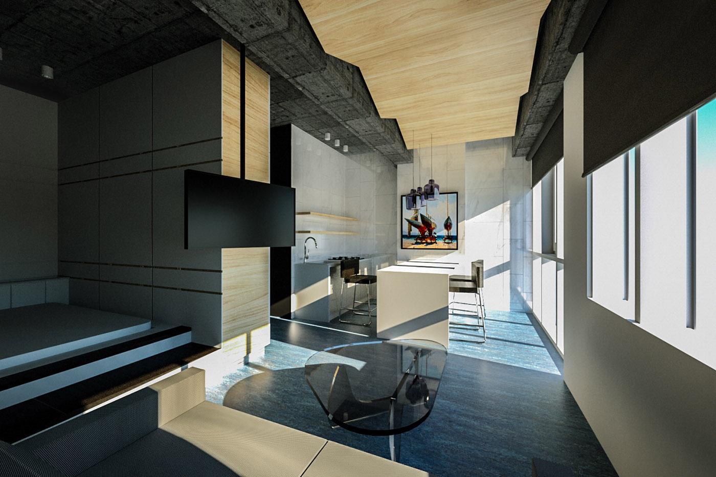 36 Sq M Apartment In Sochi On Behance