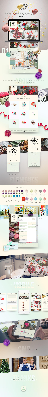 UI ux Web restaurant store shop site design development happiness