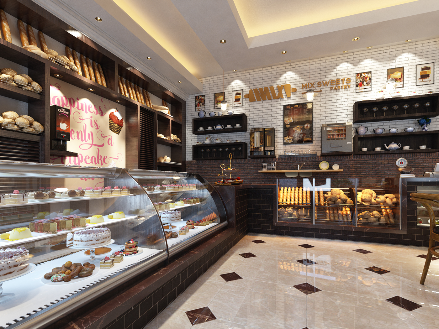 Pastry shop on Behance