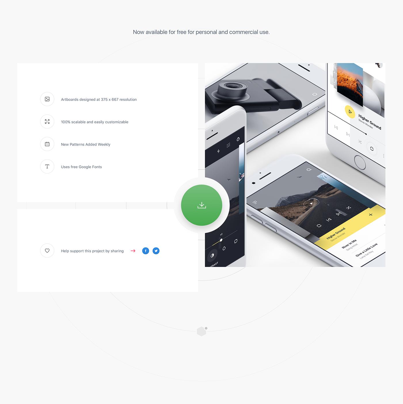 MNML / Free iOS UI Kit on Behance