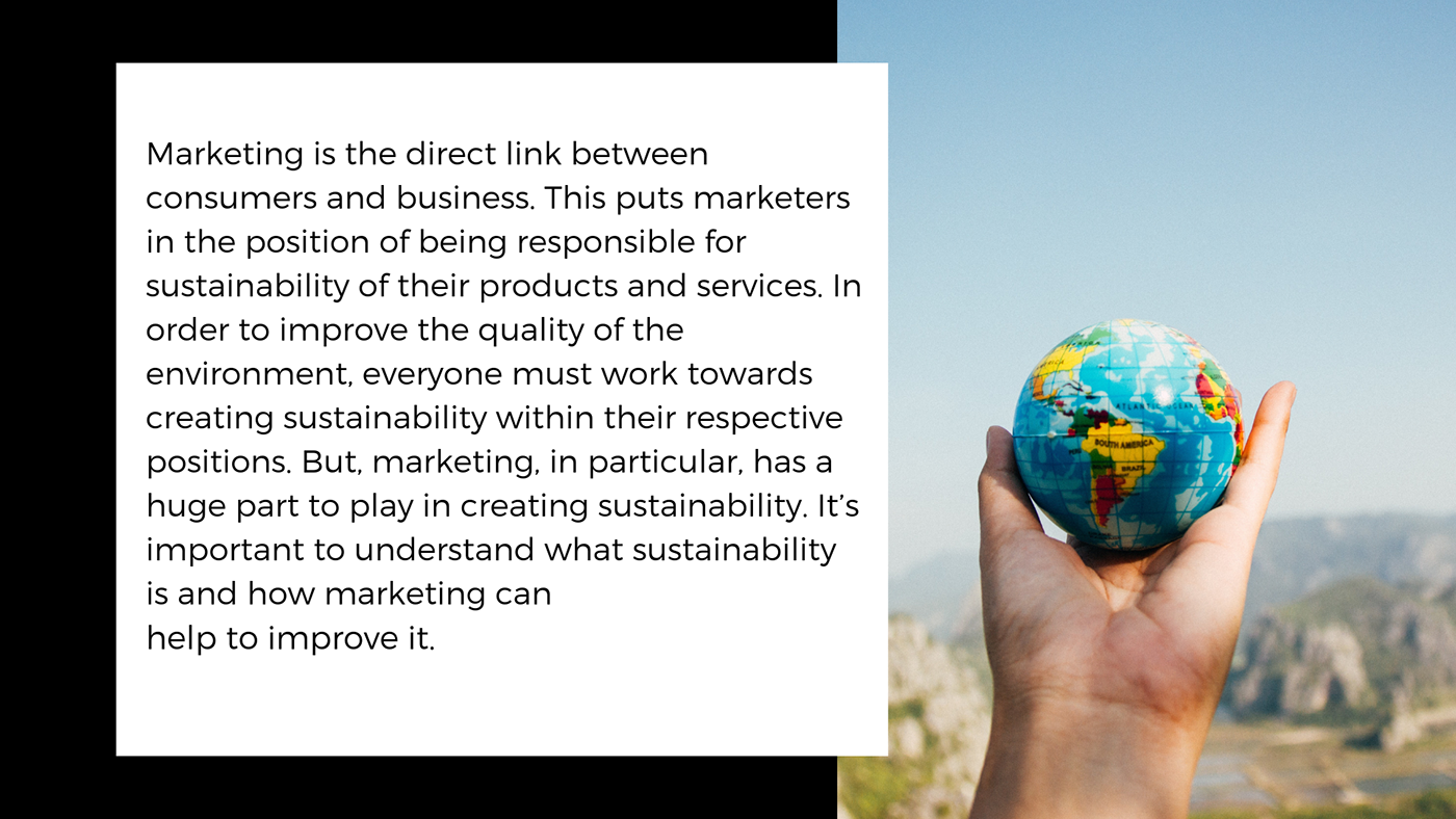 marketing  ,Sustainability,environment