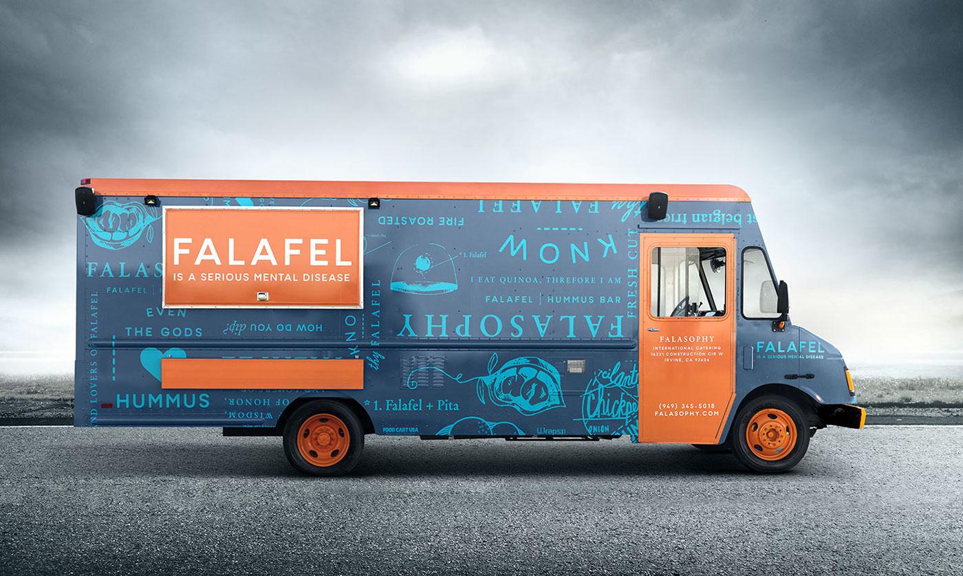 falasophy food truck on behance. Black Bedroom Furniture Sets. Home Design Ideas