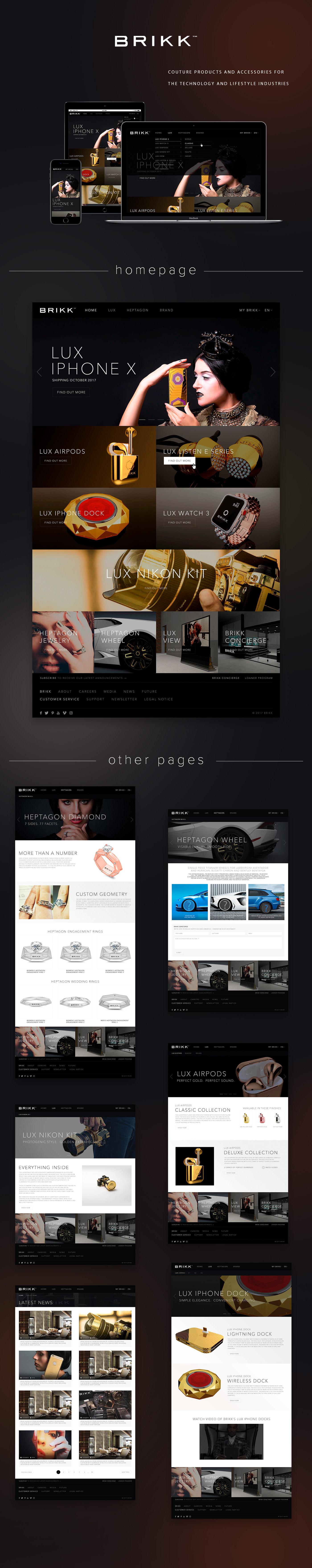 BRIKK iphone xsmas photoshop design UI ux Web animation  brand