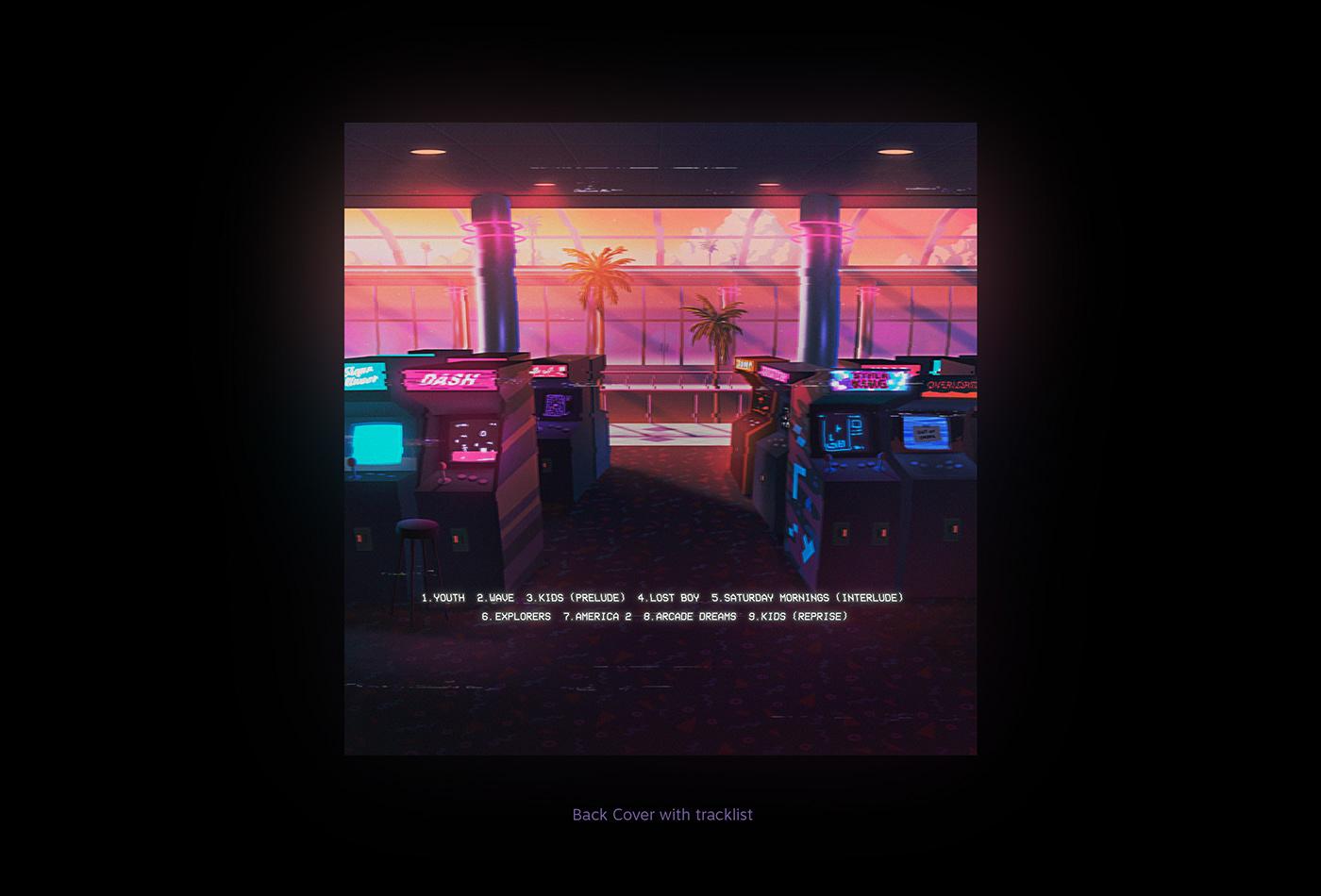 vaporwave vhs The midnight Retro album cover vinyl electronic music aesthetic 80's Synthwave