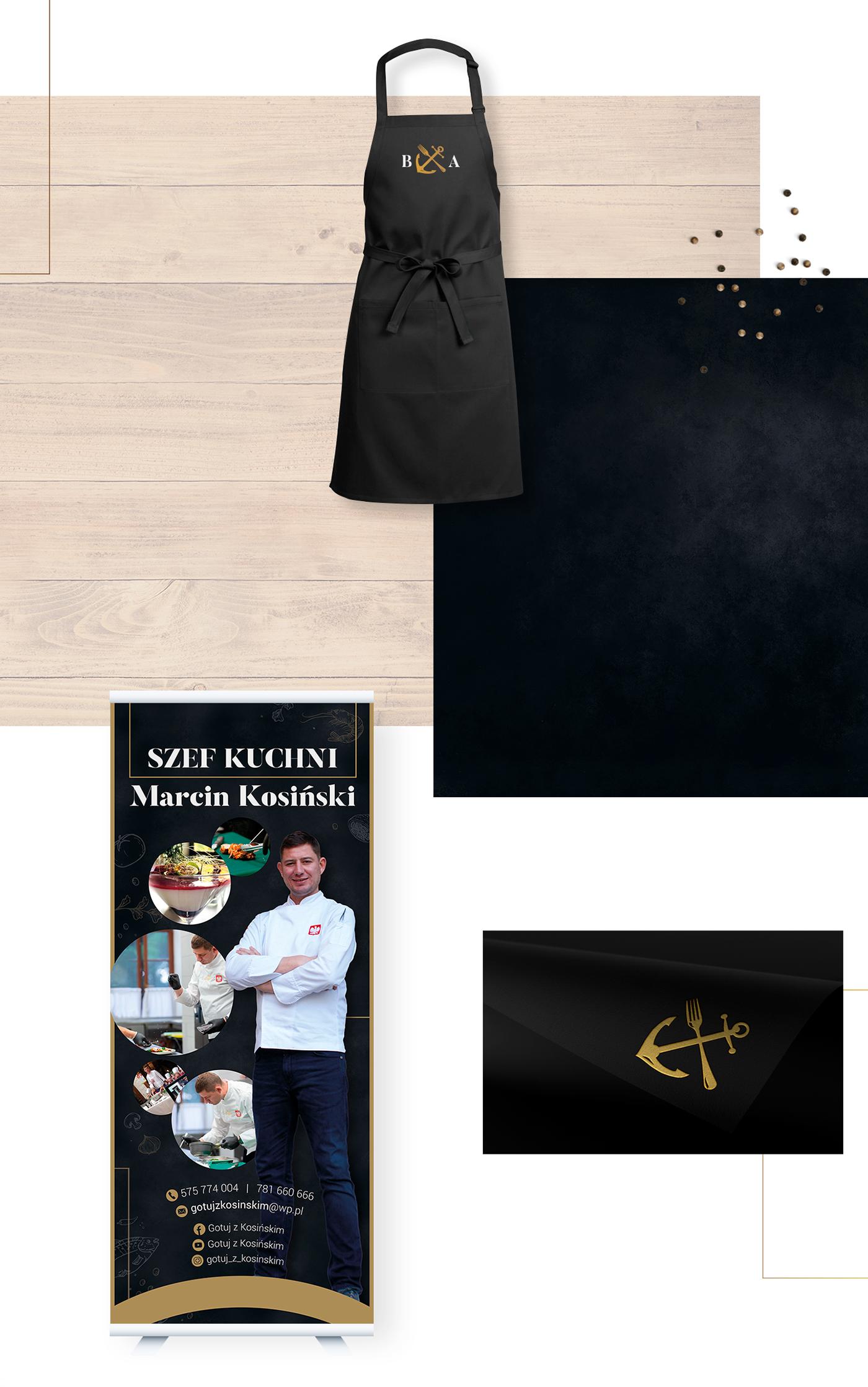 graphic design restaurant hotel Food  sea