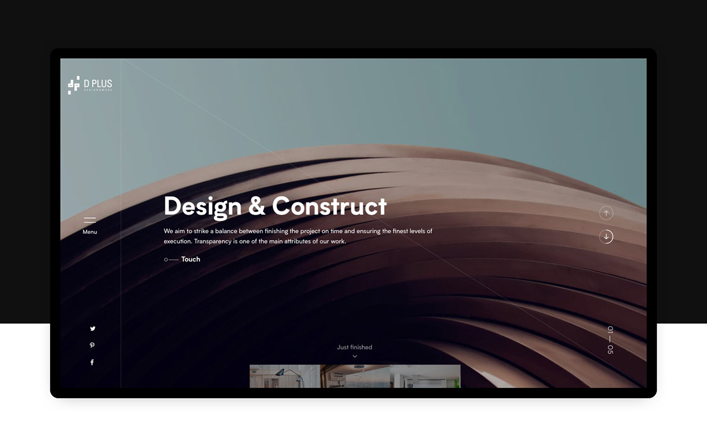 Website architecture Interior design Web interaction animation