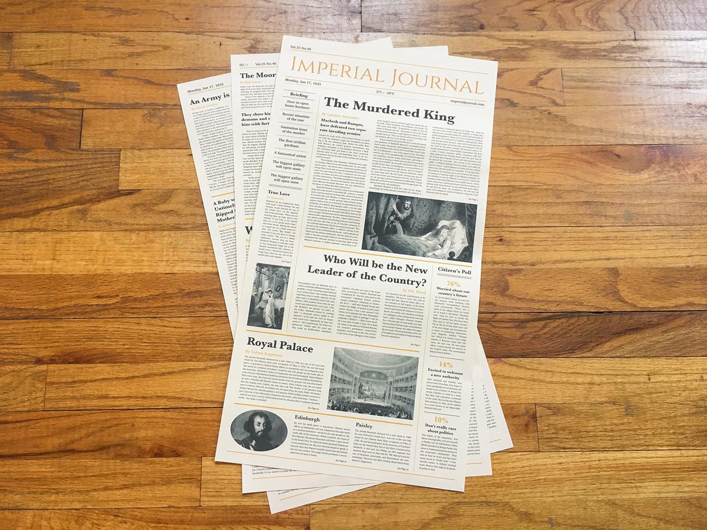 newspaper deisgn Layout print