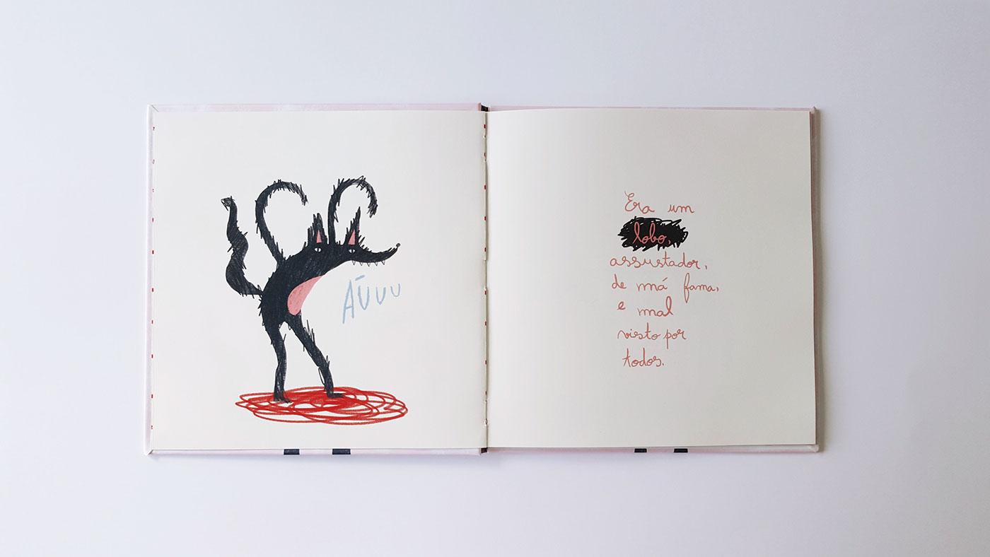 Lobo Mau Red riding hood book amalteia