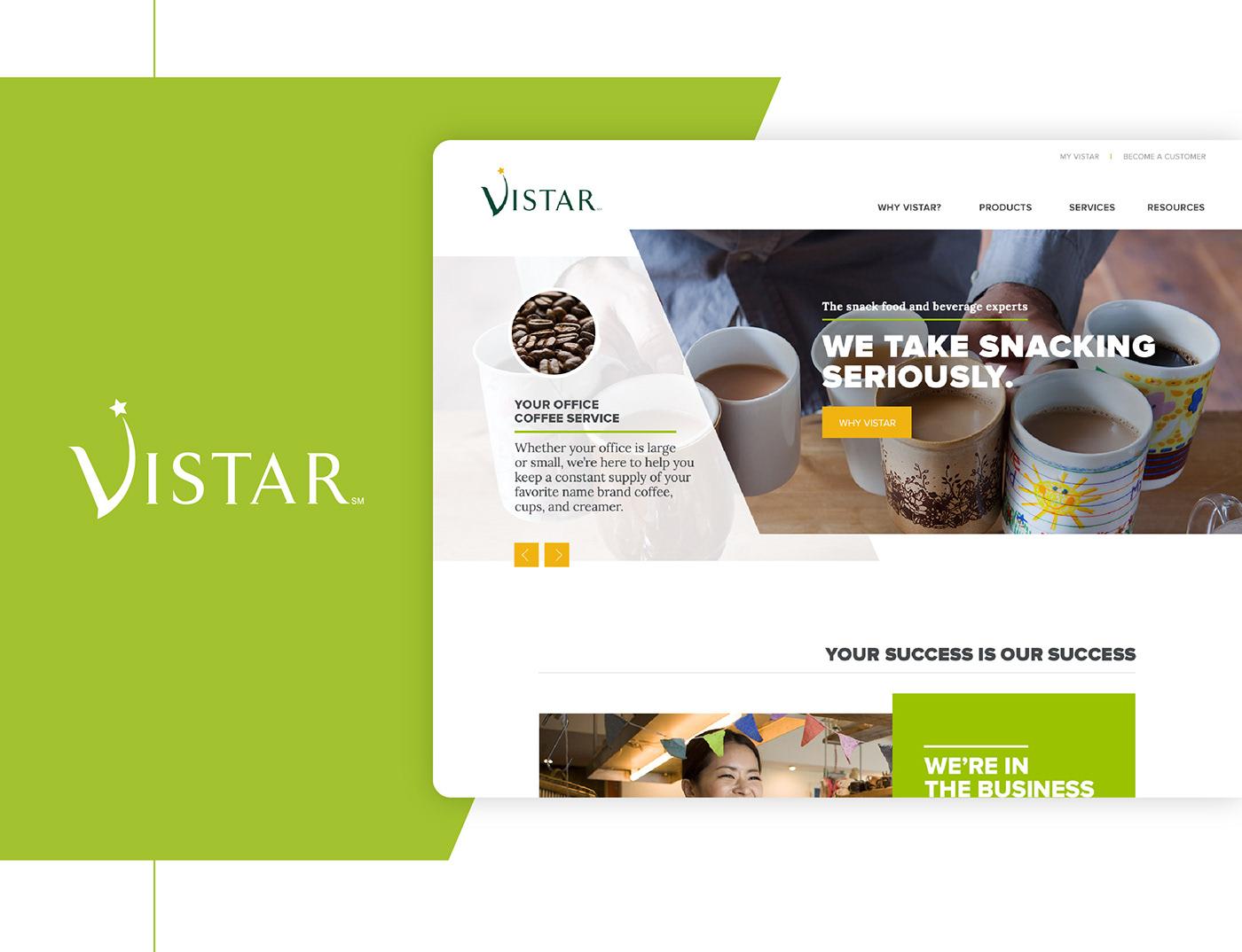 UI ux Web Design  mobile food service Vistar performance food group performance food service