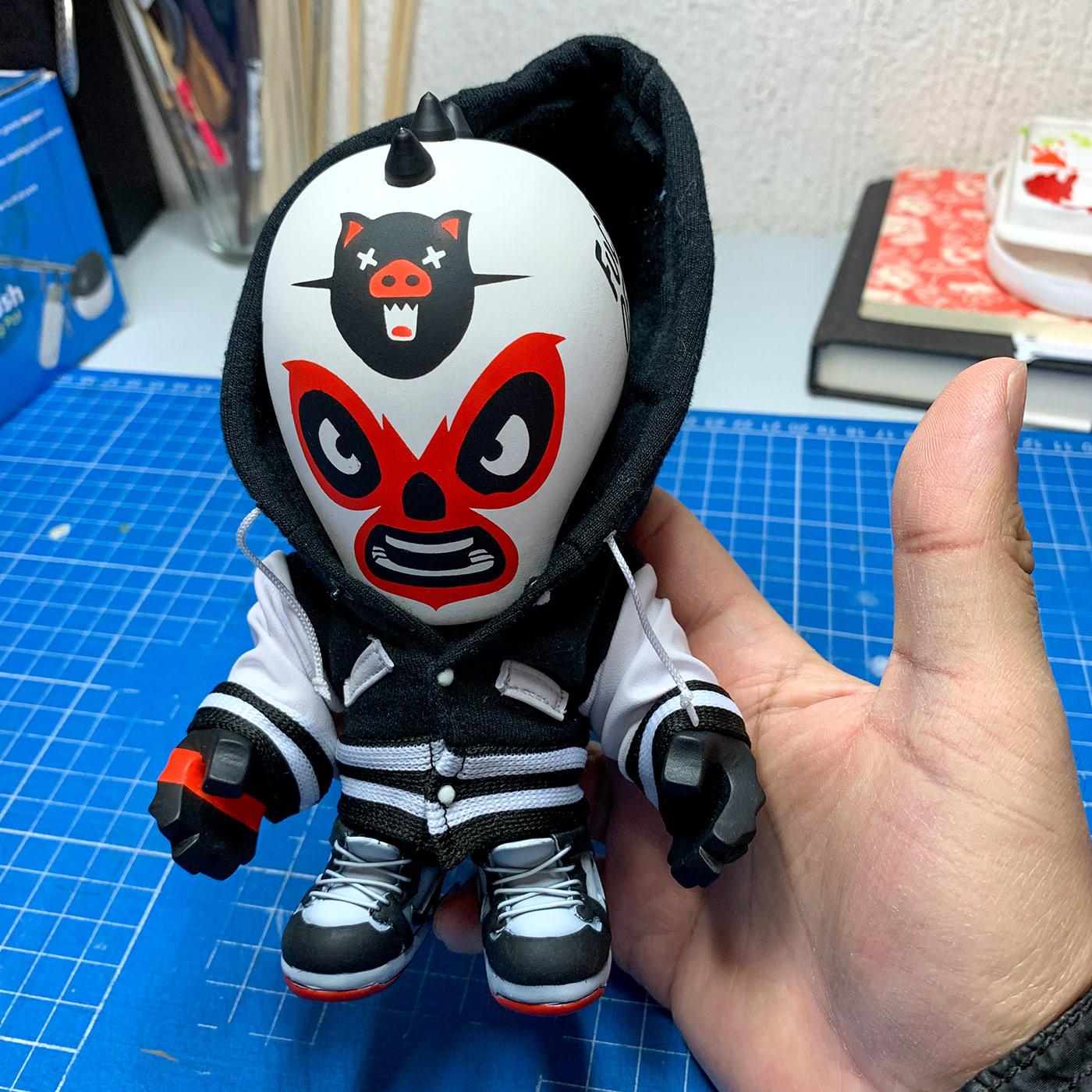 art toys Custom juguete de diseñador lucha libre Mexican mexico vinyl