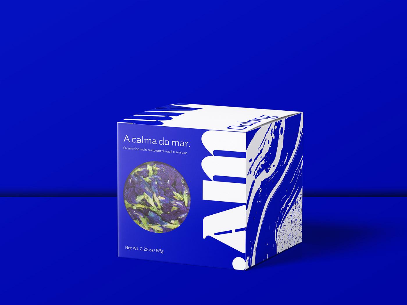 blue box brbauen Identity Design logo Packaging sea tea