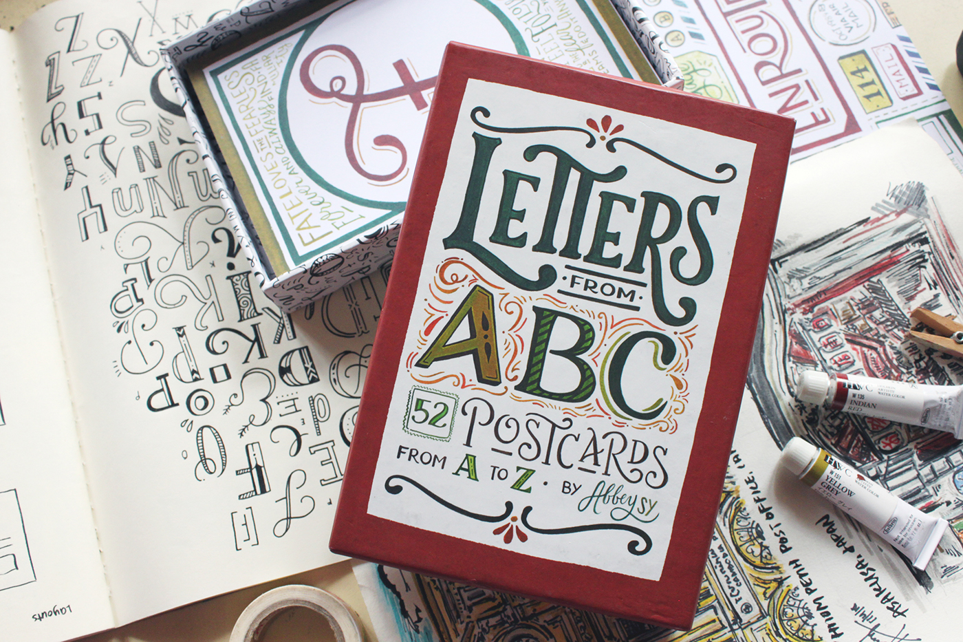 Letters From Abc Postcards On Behance