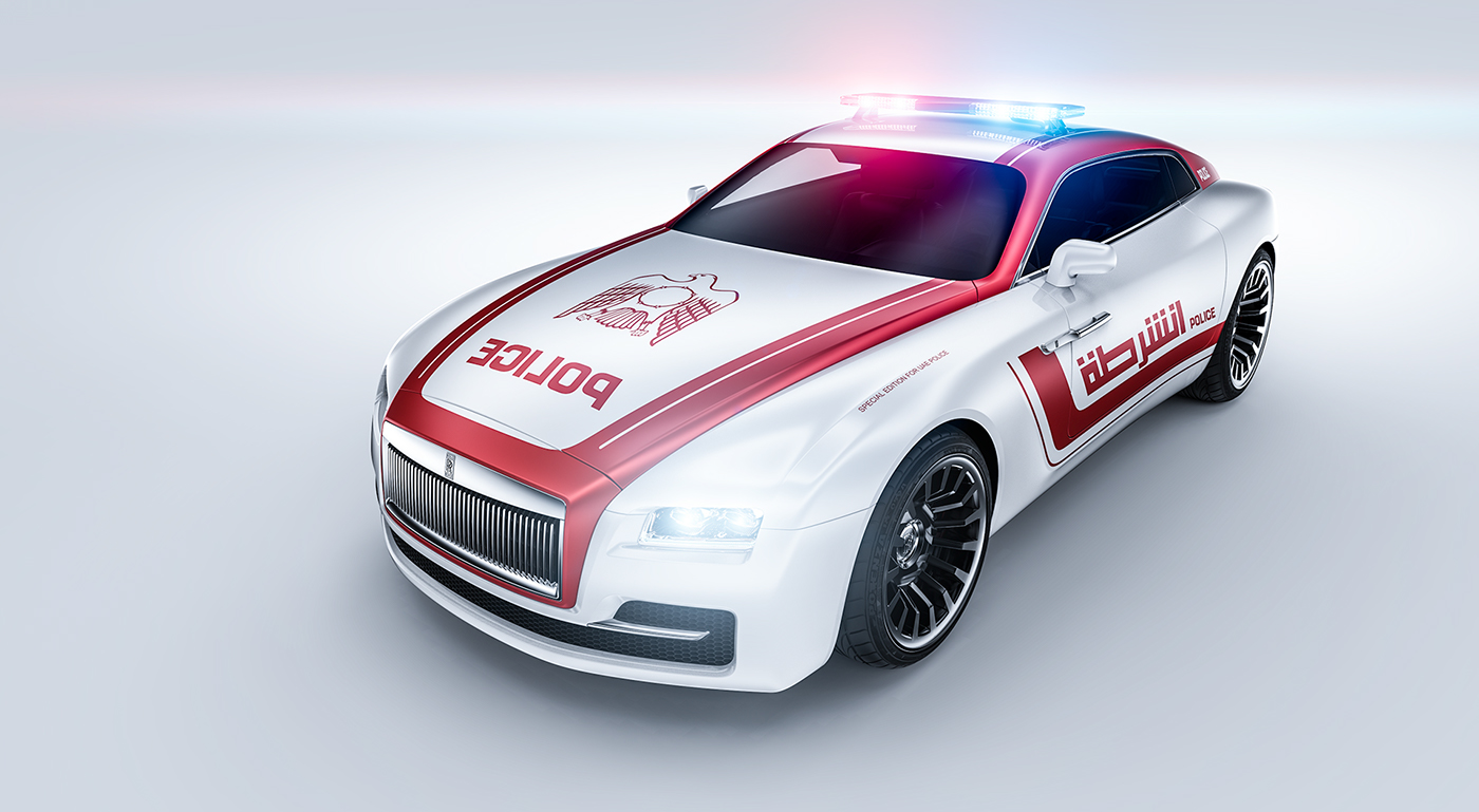 Rolls-Royce coupe Special edition for UAE police