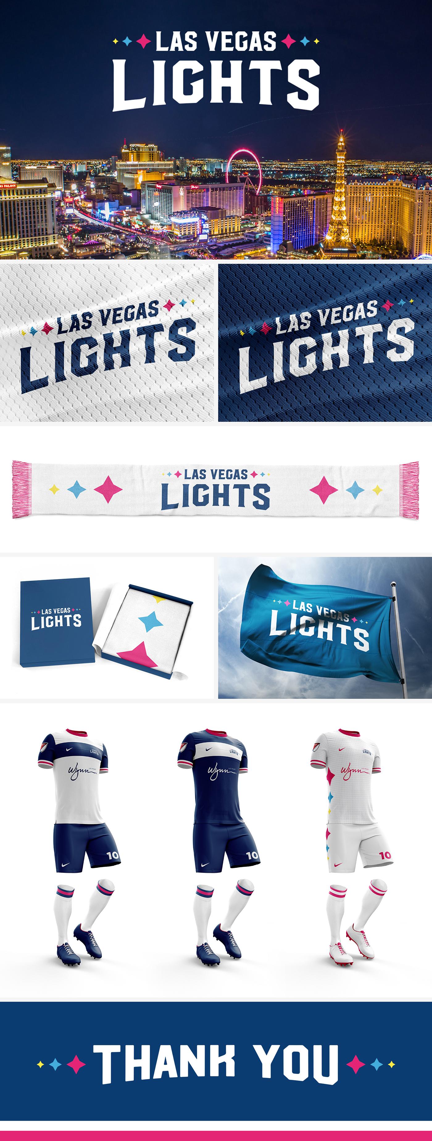 Las Vegas Lights FC Branding on Behance
