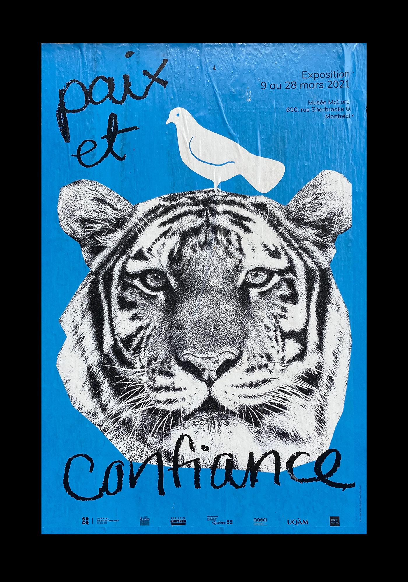 affiche design graphic graphique ILLUSTRATION  Montreal peace Photography  poster print