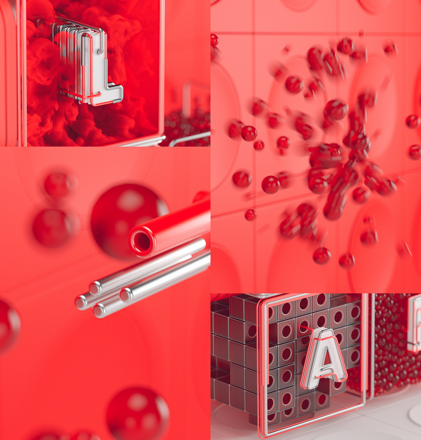 3D,motion,animation ,red,type,lab,future
