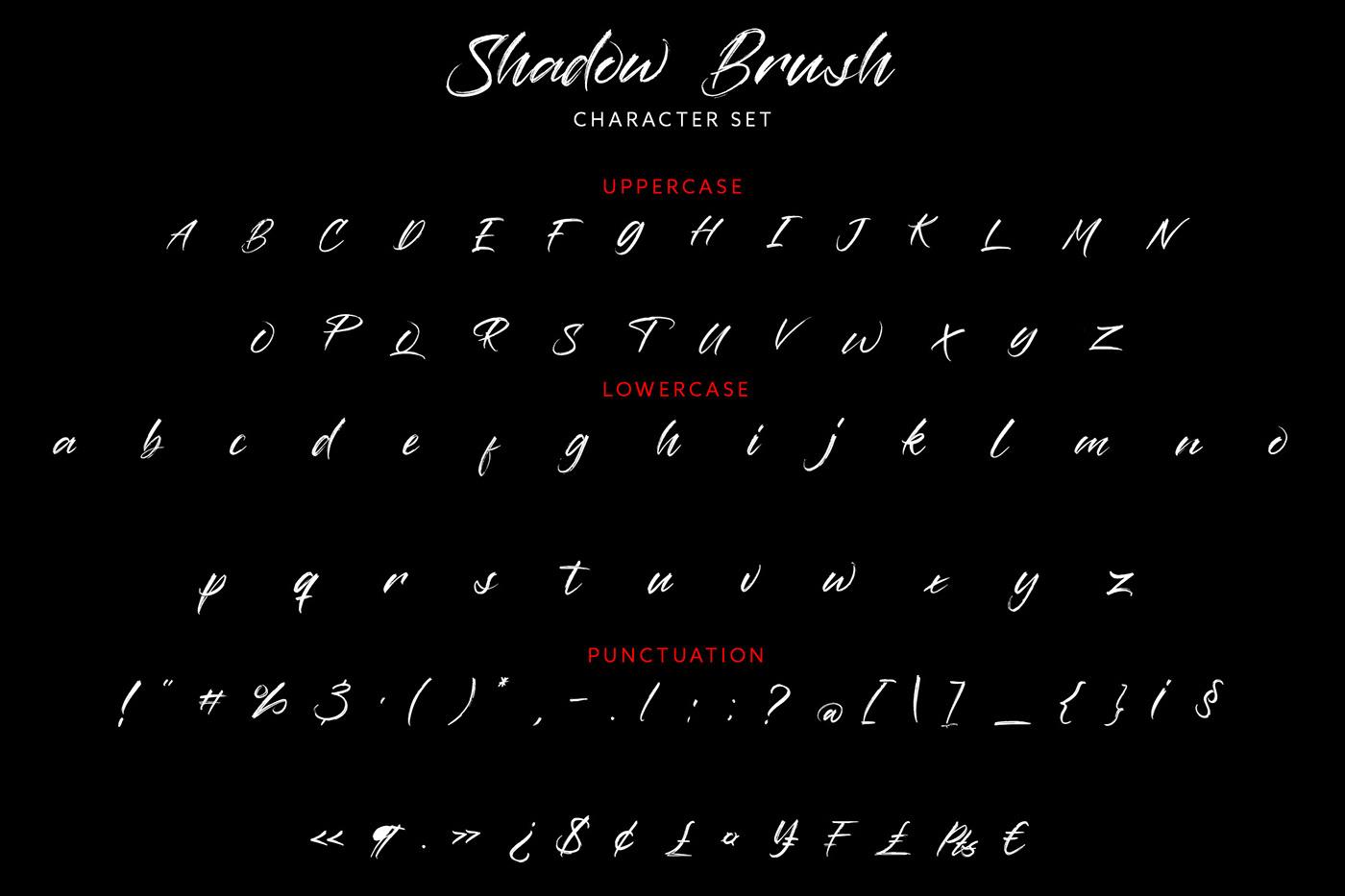 Шрифт – Shadow Brush