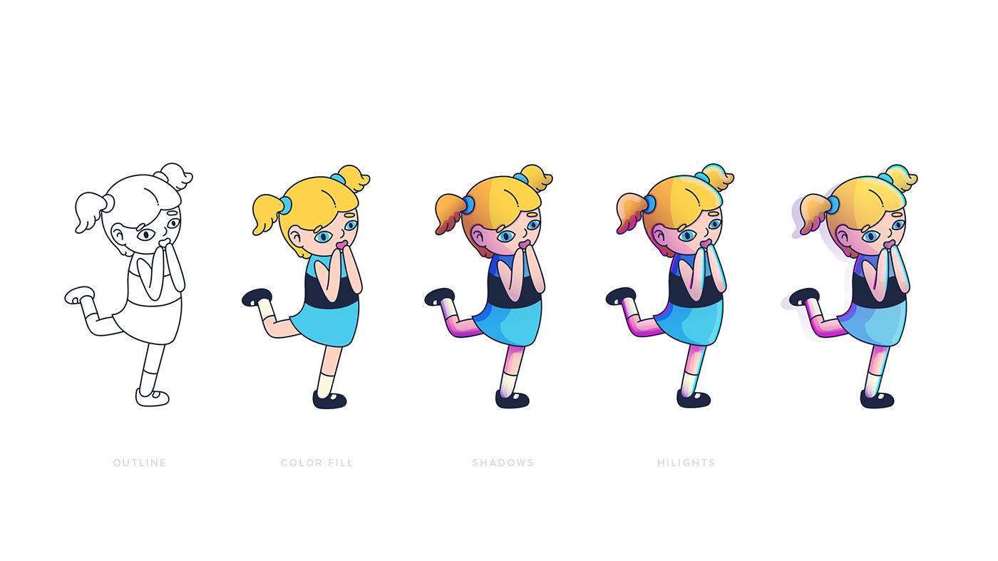 character redesign Powerpuff Girls Digital Art  free mockup  bubbles freebie cartoon phone case iPhone x